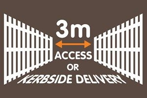 access or kerbside delivery